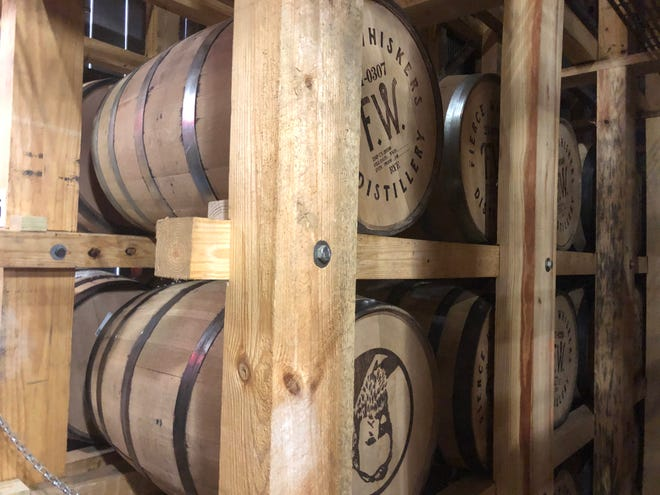 Fierce Whiskers Distillery says it has the only rickhouse in town.