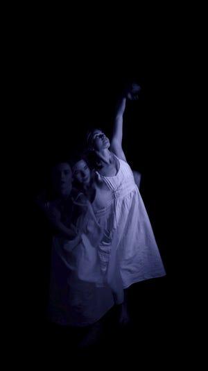 Projections of dancer Annie Morgan appear throughout artist Miriam Bennett's installation.