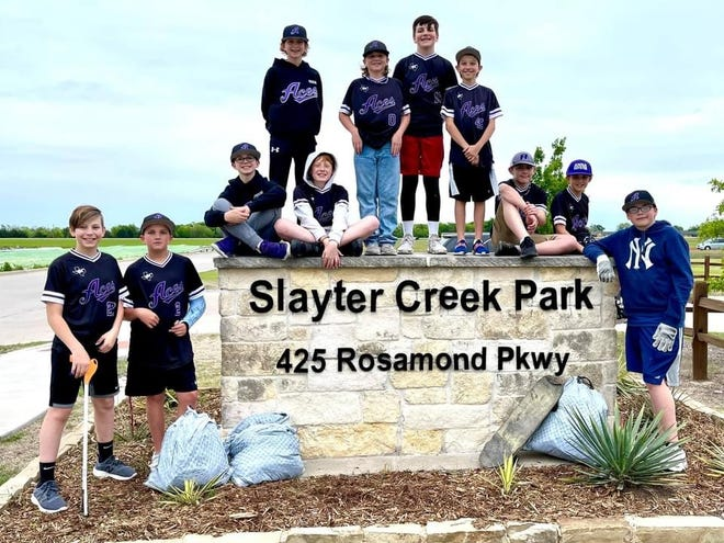 Slayter Creek Park should be a little cleaner for Food Truck FRIENDZY thanks to the Aces baseball team, which picked up trash after their game last Thursday.