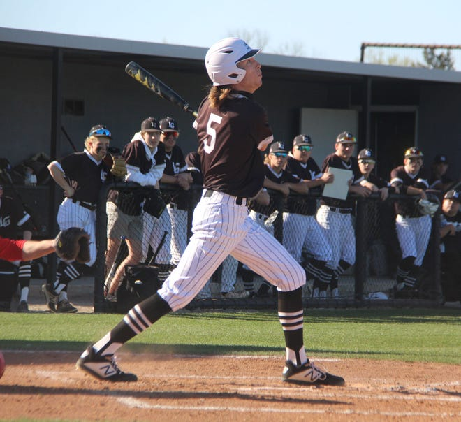 Lone Grove's Gavin Peery finished a perfect 3-for-3 at the plate Tuesday, highlighted by a home run, a double and three RBIs during a 15-3 win over Latta.