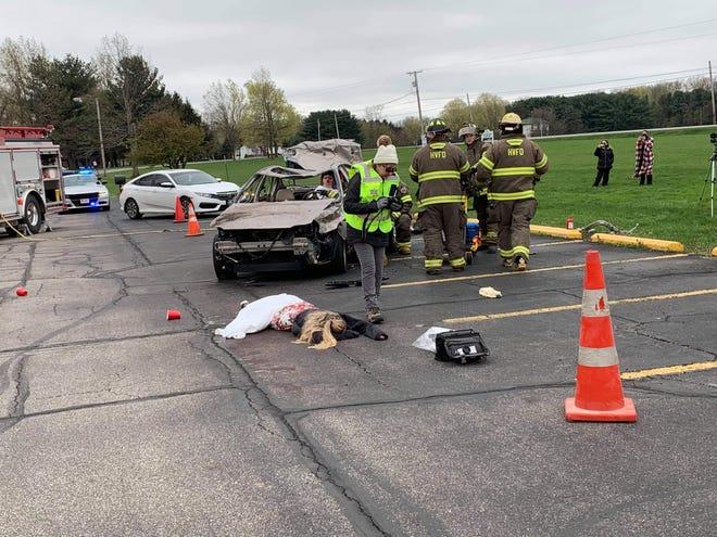 Ashland County-West Holmes Career Center mock DUI crash