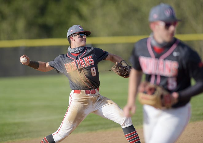 West Allegheny's Gavin Miller throws to first during against Shaler at Donaldson Park in North Fayette Township earlier this season.
