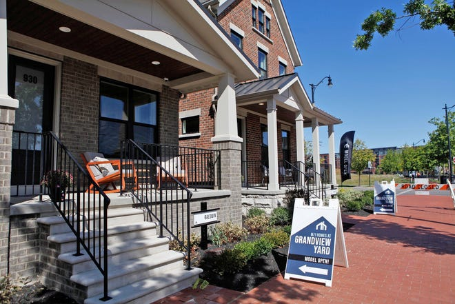 Signs point to M/I Homes models in Grandview Yard in 2019. The homebuilder is setting sales records.