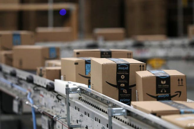 Amazon is quickly catching up to Walmart in terms of sales volume.
