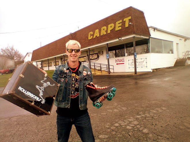 Doug Brown, a professional skateboarder from Wooster, shared his memories of rollerskating at Wooster Skateland on state Route 3, which is now a carpet store.