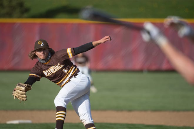 Jaden Varner deals for the Golden Bears. He finished with a 12-strikeout shutout in the win.