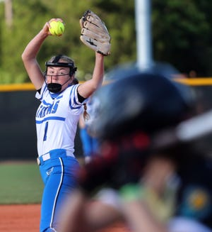 Matanzas High's Emma Wood struck out seven in a District 4-5A semifinal victory over Pine Ridge.