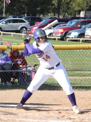 Bronson's Kaylee Withington, shown here in early season action, notched the walk-off single versus Jonesville Tuesday night to propel the Vikings to victory