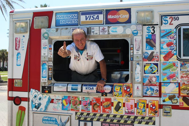Fernando Sola is celebrating his 10th year operating the Happy Faces Ice Cream truck, which brings nostalgia and cold treats to ice cream lovers from Mayport to Jacksonville Beach nearly every day.