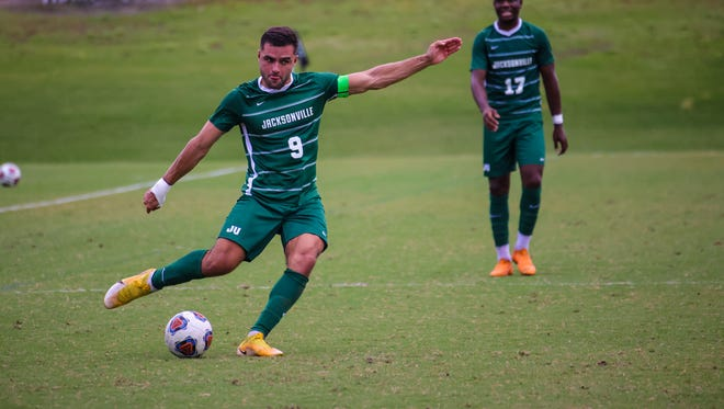Reed Davis of Jacksonville University, a Fleming Island graduate, is tied for the team lead in goals with five.