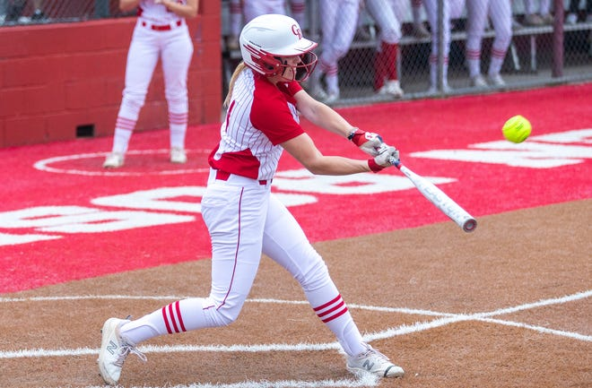 Glen Rose shortstop Kaycee Bock, seen here in action earlier in the year against Stephenville, led the Lady Tigers in hitting with a .528 batting average.