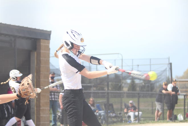 Hamilton's softball team split a doubleheader against Allendale on Tuesday, April 28