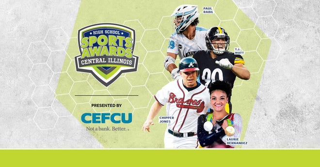 Chipper Jones, T.J. Watt, Laurie Hernandez, Paul Rabil, join the growing list of legendary athletes presenting at the Central Illinois High School Sports Awards.