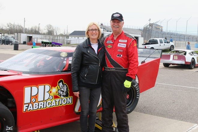 The Stricklands of Carleton are a racing team at Flat Rock Speedway. Dennis has been driving at the track since 1984 and his wife Tina serves as his spotter.