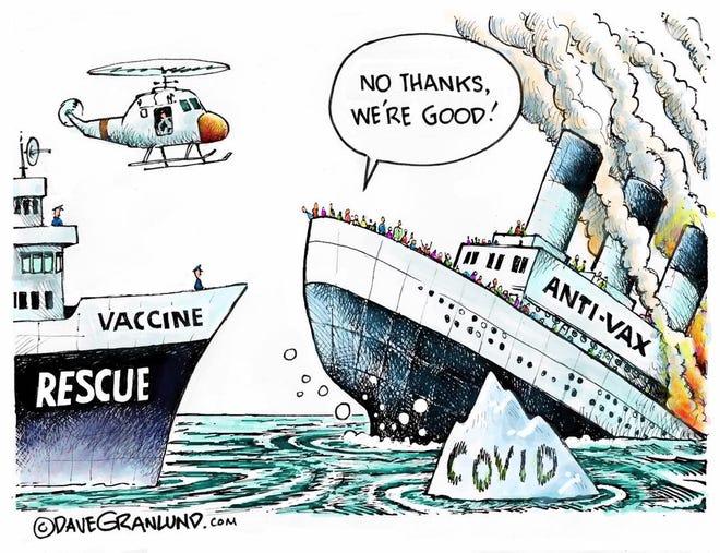 Anti-vax cartoon