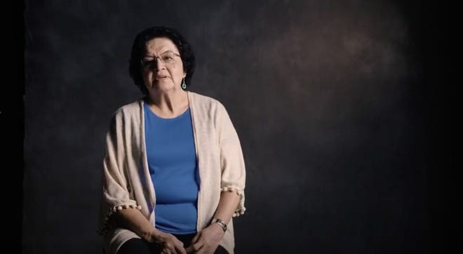 "Elsie, a Choctaw Nation member, talks about Bible translation in this still photo taken from an illumiNations' ""I Want to Know"" video vignette."