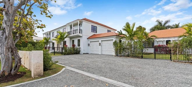 The buyers who bought this just-completed house at 259 Pendleton Ave. for a $17.45 million in April have sold it for a recorded $18.44 million, according to the sale prices documented at the Palm Beach County Courthouse.