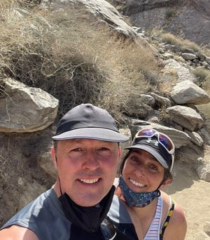 Jason and Kirsten Barton, of Portsmouth, New Hampshire, are currently traveling in Palm Springs, California.
