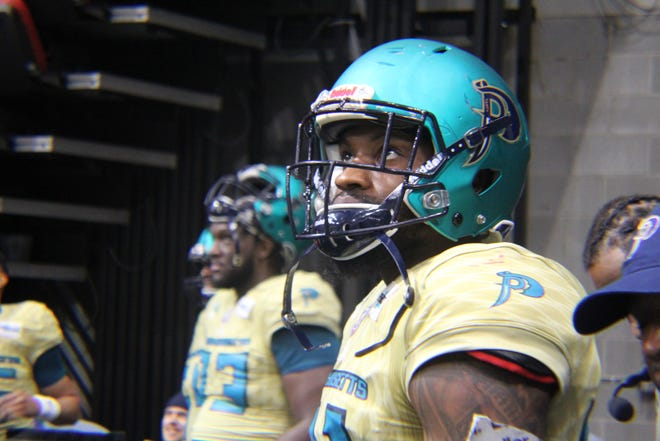 Massachusetts Pirates wide receiver Thomas Owens scored three touchdowns in a season-opening win over the Louisville Xtreme on April 24. Owens starred at Atlantic and FIU before this stint in the Indoor Football League.