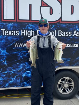 Corbin Poston finished in 49th place catching two fish weighing 5.60 pounds at the THSBA Regional tournament on Saturday, April 17, at Lake Lewisville.