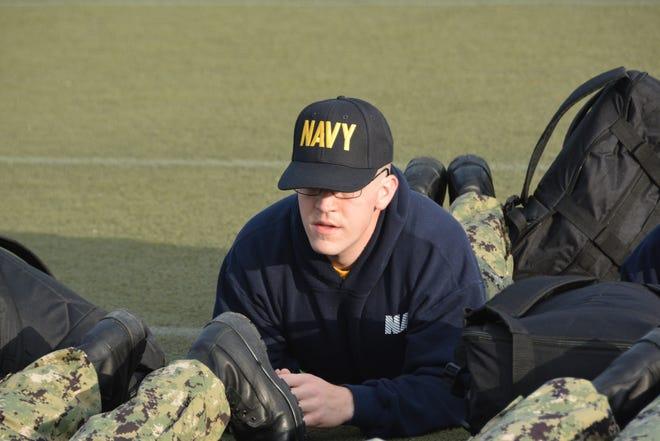 Nicolas Blanton during officer training.