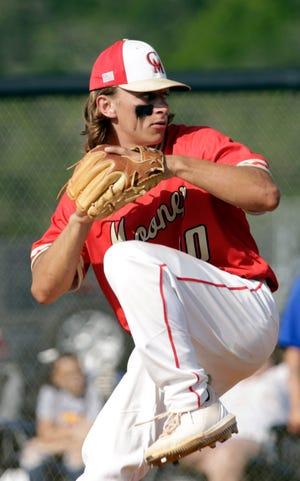 Cardinal Mooney starter Todd Velotta allowed one hit over four innings against Imagine School at North Port