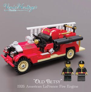 """Venice Heritage Inc. is selling a limited edition LEGO model set of """"Old Betsy,"""" the city's 1926 LaFrance Fire Engine. Proceeds of the sale go to the maintenance of the iconic fire engine."""