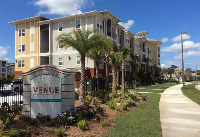 Rents in Sarasota were up 3.5% in April. Pictured is The Venue in Lakewood Ranch.