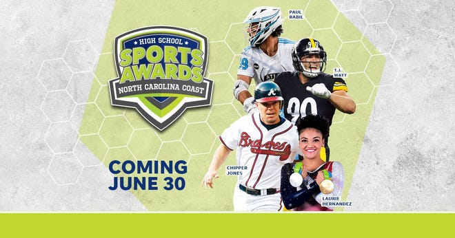 Chipper Jones, T.J. Watt, Laurie Hernandez, Paul Rabil, join the growing list of legendary athletes presenting at the North Carolina Coast High School Sports Awards.