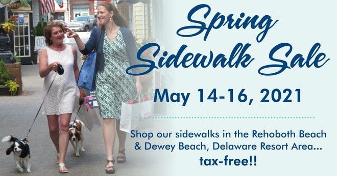 The Rehoboth Beach-Dewey Beach Chamber of Commerce will host the 38th annual Spring Sidewalk Sale from 10 a.m. to 8 p.m. daily, May 14-16.