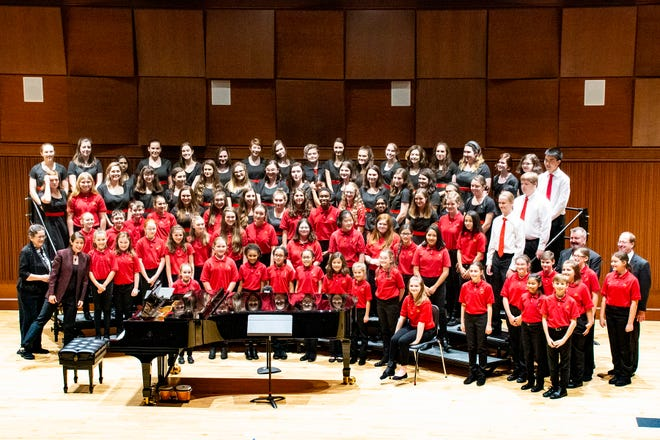 The Worcester Children Choruses in 2018 at Assumption University theater.