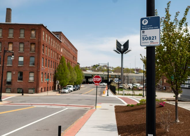 WORCESTER - New parking measures have started popping up in the Canal District, seen on Wednesday, April 28, 2021.