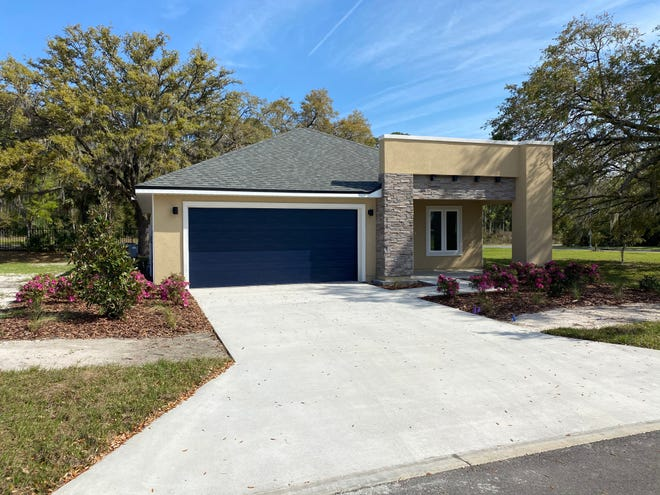 The exterior of the Red Maple model home at the Heartwood Subdivision, 1717 SE Eighth Ave., in Gainesville. The neighborhood will have 34 lots when completed, 11 of which will be exclusively used for affordable housing. [Submitted photo]