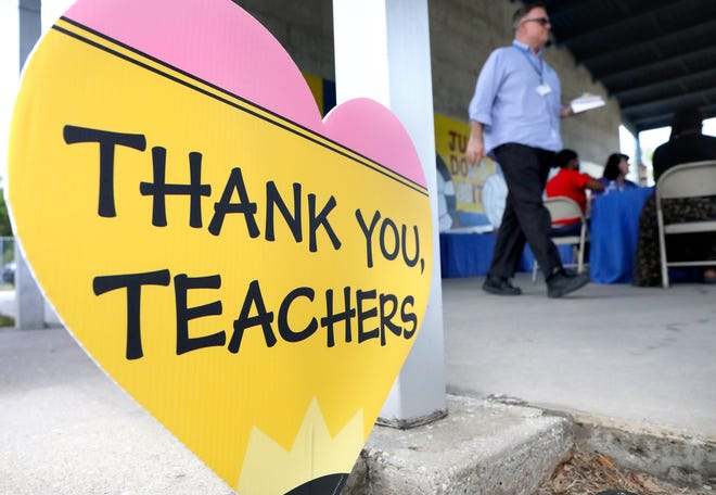 Teacher Appreciation Week is held annually in May.