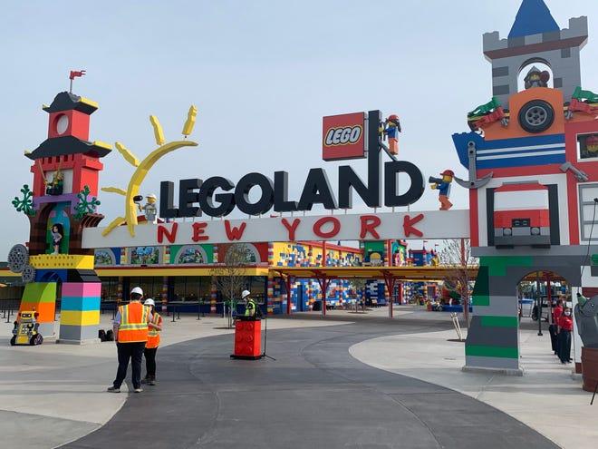 Legoland New York's front gate in Goshen, NY on April 28, 2021.