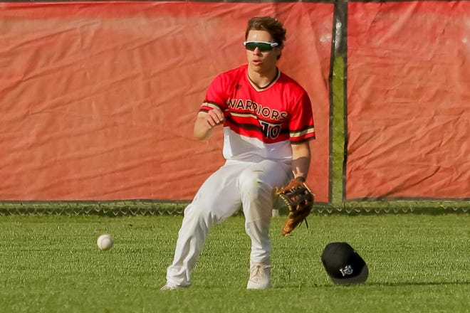Senior center fielder Ethan Kraynak and Worthington Christian have been enjoying a breakthrough season. The Warriors were 16-2 overall and 8-1 in the MSL-Ohio after beating Whitehall 11-0 on April 28.