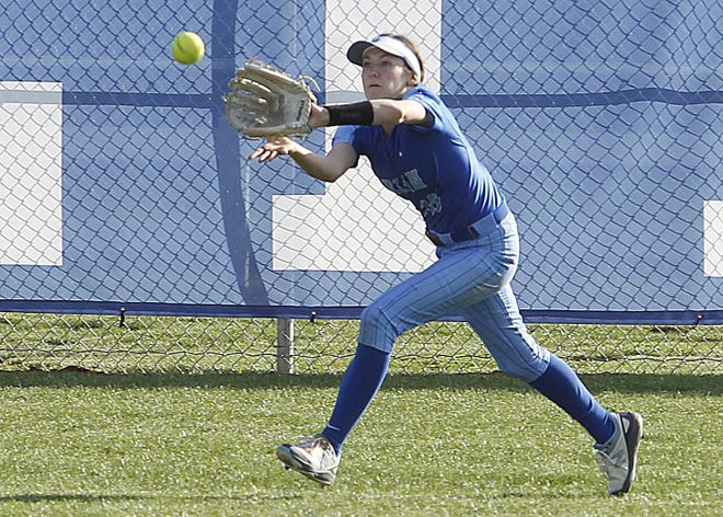 Through 17 games, Izzie Wilson led the improving Berlin softball team in batting average (.492), runs (32), on-base percentage (.542), doubles (7) and stolen bases (8). The sophomore also had one home run and 13 RBI.
