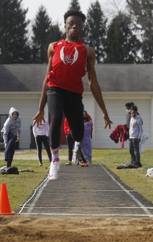 Harris Musungu has been the top jumper this season for the Groveport Madison boys track and field team.