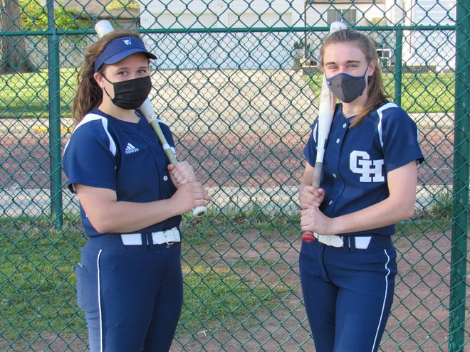 Grandview Heights seniors Emma Murphy (left) and Sami Swartz have taken the leadership reins for the softball team. They have been a positive influence on a young group of Bobcats that won only three of its first 17 games.