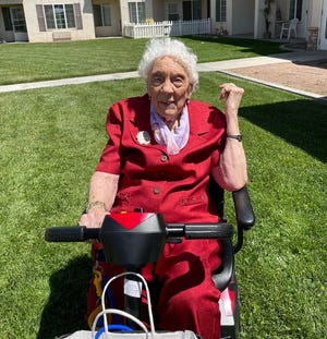 Florence Mildred Hoffman-Carlson recently celebrated her 100th birthday with family and friends at the Solstice Senior Living community in Apple Valley.