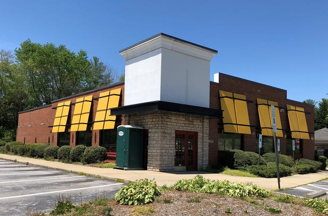 The former Applebee's Restaurant in South Asheville was going to be transformed into a Cookout restaurant, but that plan fell through. It will now be home to a financial services company.