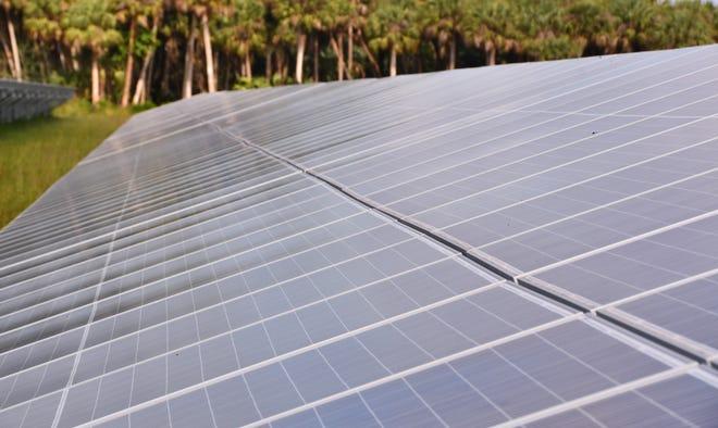 The Florida Power & Light Palm Bay Solar Energy Center on April 2.