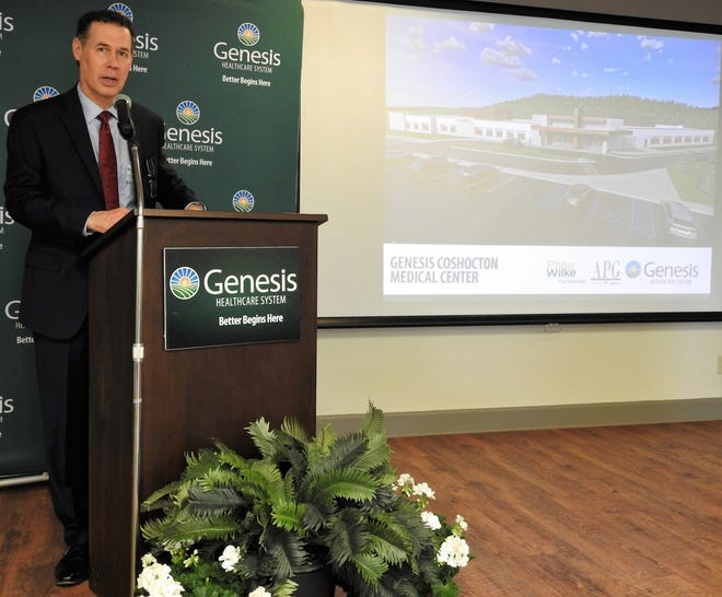 On Wednesday, Matthew Perry, Genesis CEO and President, announced the creation of the new Genesis Coshocton Medical Center. The 60,000-square-foot facility represents a $45 million investiment in Coshocton and will create more than 200 jobs. Groundbreaking will be in July and it's expected to open in early 2023.