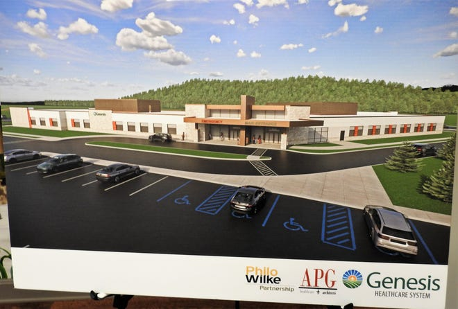 Artist rendering of the new Genesis Coshocton Medical Center to be built near the intersection of U.S. 36 and Airport Road. It is scheduled to open in early 2023.