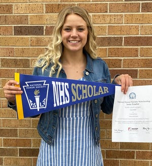 Kylee Stelzer, a senior at Suring High School, was one of just 575 students across the country selected for a National Honor Society semifinalist scholarship.