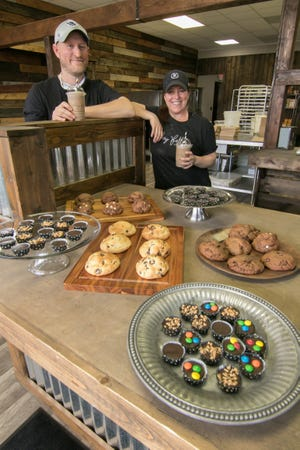 Greg and Keri Hayes, shown Wednesday, April 28, 2021, have found a place they can call their own for Whey Better Cookie Co. in the city of Brighton.