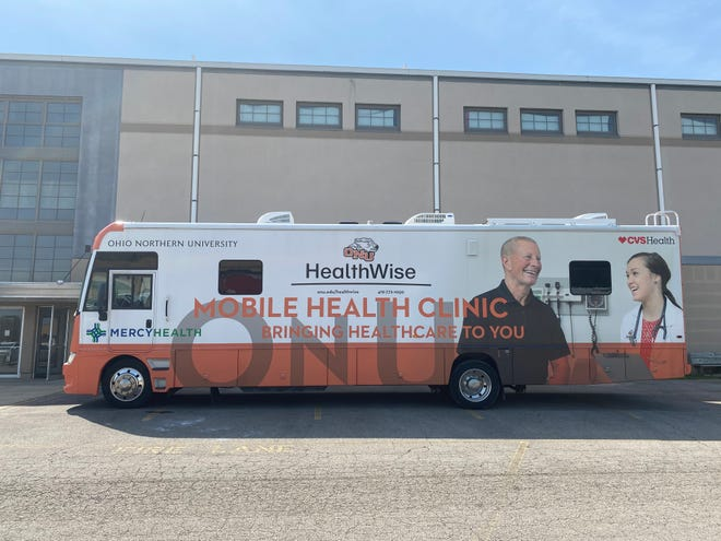 Ohio Northern University's Healthwise Mobile Health Clinic made its debut in Marion Tuesday, April 27, 2021 at the Marion County Fairgrounds. The university has been administering vaccinations in rural counties across central Ohio.