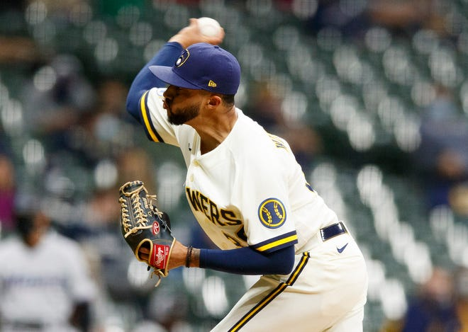 Brewers right-hander Devin Williams has held hitters to a .188 average while striking out 14over his last nineinnings.