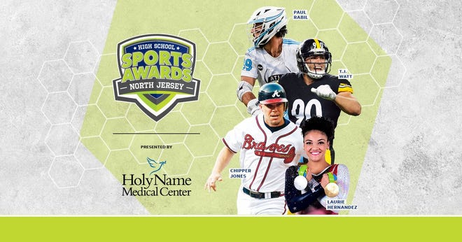 Chipper Jones, T.J. Watt, Laurie Hernandez, Paul Rabil, join the growing list of legendary athletes presenting at the North Jersey High School Sports Awards.