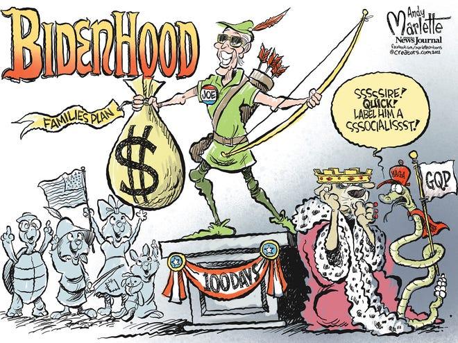 Marlette cartoon: Biden hits 100 days